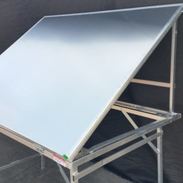 Mesa plegable de aluminio expositora reforzada MOD-16